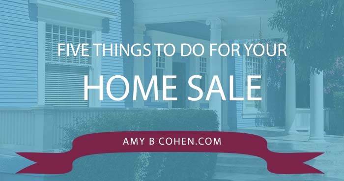 five things to do for your home sale