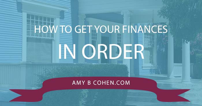 how to get your finances in order