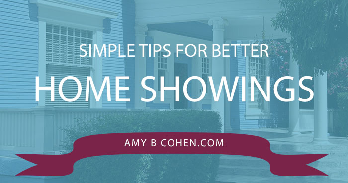 simple tips for better home showings
